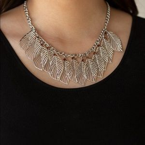 New! Paparazzi Feathery Foliage Brown Necklace